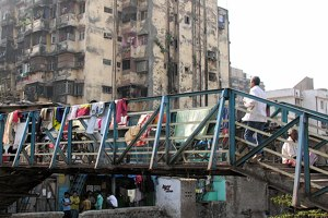 One of the Entrances to the Dharavi Slum, Mumbai, India.